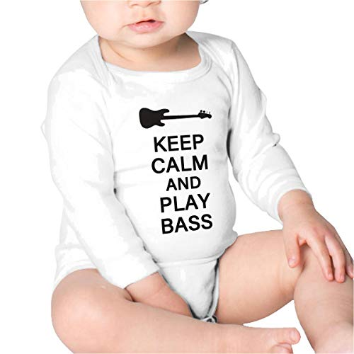 Price comparison product image Pikaqiuleilei Keep Calm and Play Bass,  Guitar Boys Cotton, Long Sleeve Creeping Suit
