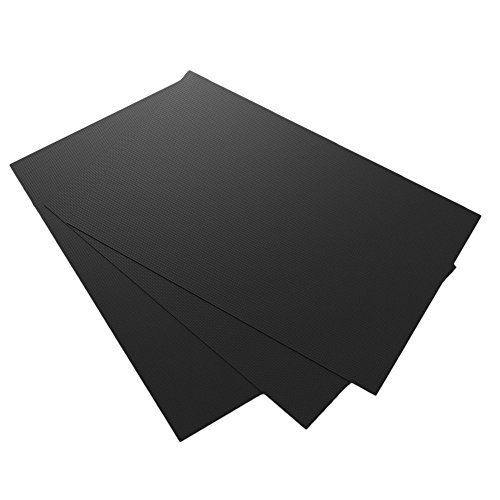"""GuteKüchen Black Multi-Purpose Teflon Sheets, Set of 3, 23"""" x 16"""" Heavy Duty, Heat Resistant, Non-Stick, Reusable Cooking, Baking and Grilling Mats, An All-in-One Revolutionary Kitchen Accessory."""