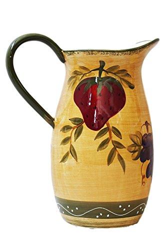 purple ceramic pitcher - 9