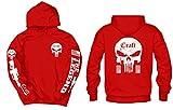 American Sniper Craft White Front, Back, & Sleeves Logos Hoodie, Medium Red