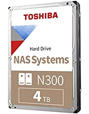 Toshiba N300 4TB NAS 3.5-Inch Internal Hard Drive - CMR SATA 6 GB/s 7200 RPM 256 MB Cache - HDWG440XZSTA