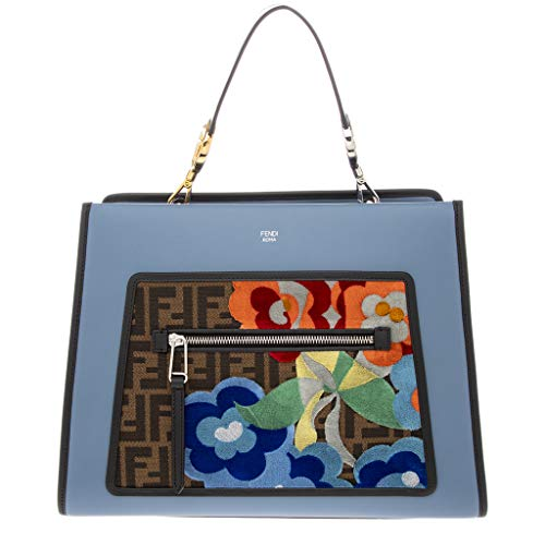 Fendi Blue Handbag (Fendi Women's Runaway Large Leather Tote Blue)