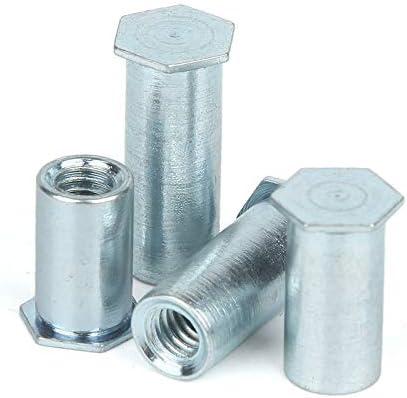 Nuts 10PCS M2 M2.5 Blind Hole Rivet Studs Rivet Nut Column Rivet Studs Rivet Parts Small Outer Diameter 4.2 Size: M2.5X10mm