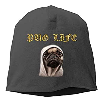 meageahe Pug Life Funny Hipster Winter Beanie Skull Cap