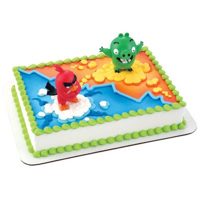 Angry Birds Cake Topper - Red Bird & Bad Piggy (Angry Birds Red)