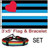 Best Leather Bracelets For Gay Lesbians - LGBT Flag - Leather Pride Flag (3x5) Gay Review