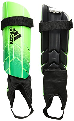 adidas Performance Ghost Reflex Shin Guard, Solar Green/Core Green/Black, Large Ghost Reflex Shin Guard
