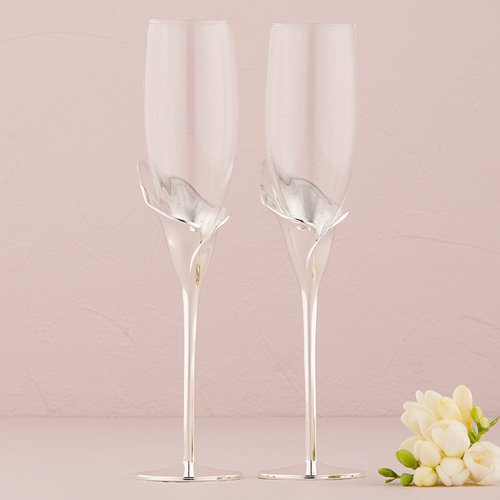 Calla Lily Toasting Glasses - 6