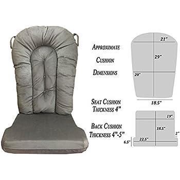 Amazoncom Glider Rocker Replacement Cushion Set Grey Color
