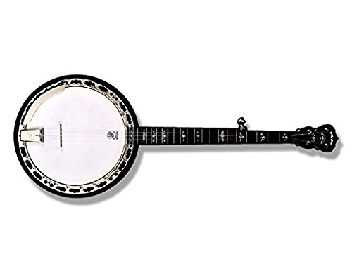 Banjo Shaped Sticker (music bluegrass country folk love band instrument)- Sticker Graphic Decal
