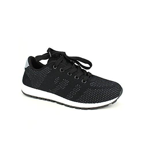Chaussures Cendriyon Confort Ultra Noir Baskets Weides Noires Femme wZxwTOC