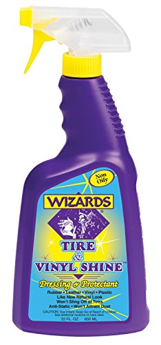 Wizards 11055 Tire & Vinyl Shine Dressing and Protectant – 22 oz.
