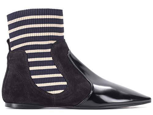 Acne Studios Women's 1Eg174 Black Leather Ankle Boots