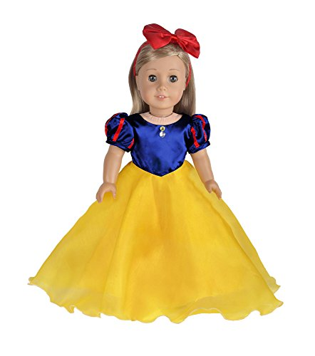 Ebuddy Princess Dress Inspired By Snow White Doll Clothes Fits 18 Inch (Snow White Inspired Outfit)