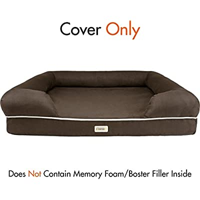 100 Percent Suede Super Deluxe Upgrade/Replacement Cover for Friends Forever Bed/Couch Petfusion Bed (Cocoa L Cover)