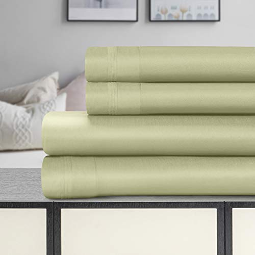 Superior 100% Egyptian Cotton 1500 Thread Count Sheet Set, King, Sage from Superior