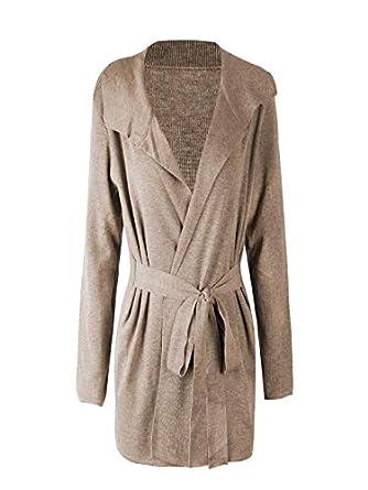 ❤ Cardigan Solid para Mujer, otoño Invierno Outwear Sweater Casual Manga Larga wo Slim con cinturón Pullover Coat Absolute: Amazon.es: Ropa y accesorios