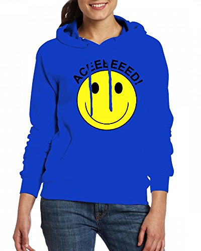 Acid house electronic music smiley face rave Womens Hoodie Fleece Custom Sweartshirts