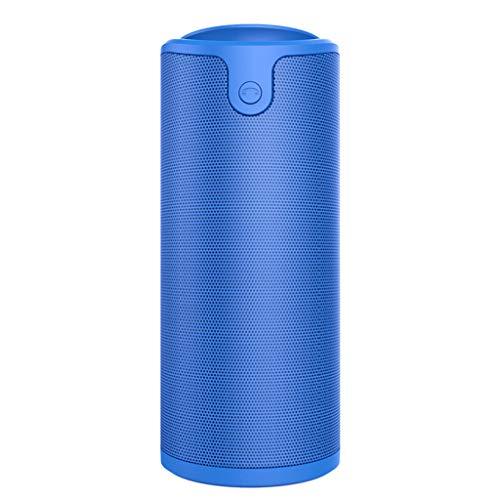 RENJUN Wireless Bluetooth Speaker Phone Portable Mini Outdoor Card Audio, 72×72×170mm Speaker (Color : Blue)