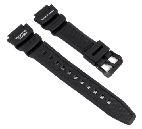 Casio Watch Strap Watchband Resin Band Black For Gents Aqw 101 1Avw