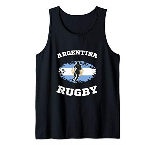 Argentina Flag Rugby Team  Tank Top