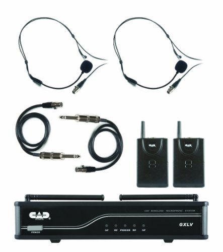 CAD Audio GXLVBB-J VHF Wireless Dual Bodypack Microphone System - J Frequency Band -
