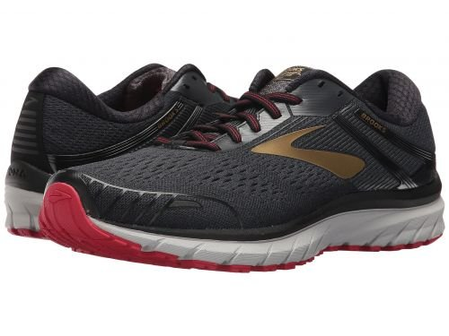 Brooks(ブルックス) メンズ 男性用 シューズ 靴 スニーカー 運動靴 Adrenaline GTS 18 - Black/Gold/Red [並行輸入品] B07BMDCB1D 11.5 D - Medium