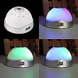 Home decoration Digital Magic LED lights Led Funny Alarm Clock Laser Projection Night Light Color Change