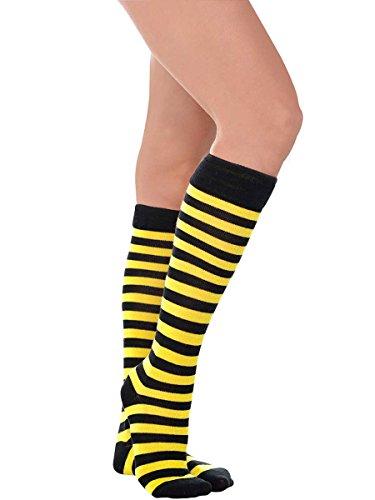 Amscan Bee Stripe Knee High Socks