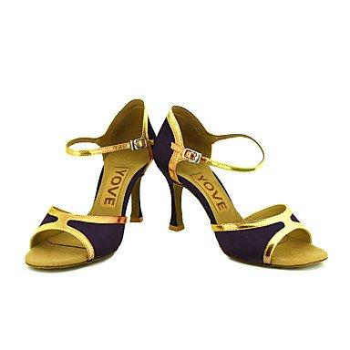 XIAMUO Anpassbare Frauen Beruf Tanz Schuhe, Gold, US 9.5-10/EU 41/ UK 7,5-8/CN 42