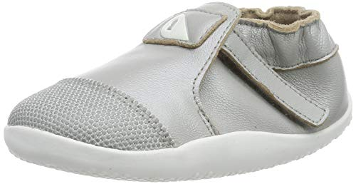Bobux Xplorer Origin, Baby Shoes for Boys & Girls, 9 to 24 Months, The Best Toddler & Infant First Walking Shoe, Premium Leather, Durable Superfabric Toecap, Silver (Patio Base Level)