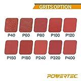 "POWERTEC 414212A 1 x 42"" Sanding Belts | 120 Grit"