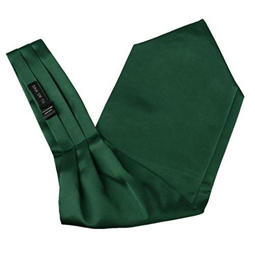 Dan Smith DRA7E01O Dark Green Polyster Solid Mens Ascot Perfect Fashion Cravat Contemporary Gift Idea