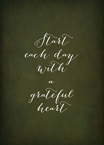 START EACH DAY WITH A GRATEFUL HEART Novelty Aluminum for sale  Delivered anywhere in Canada