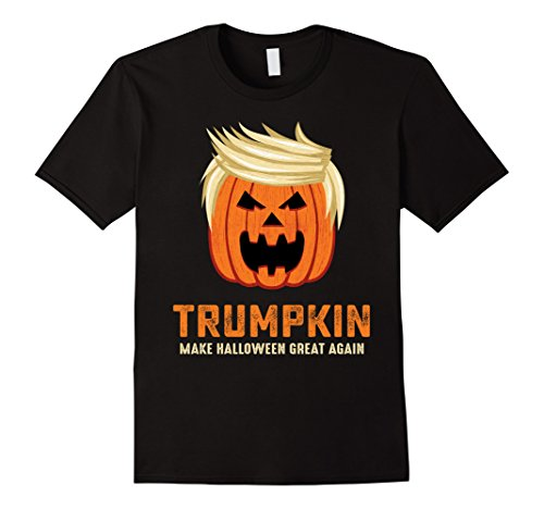 Mens Halloween Trumpkin Funny T-Shirt XL Black