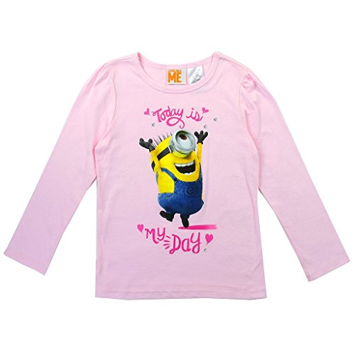 Despicable Me Little Girls' Stuart Minion Long Sleeve Tee (5)