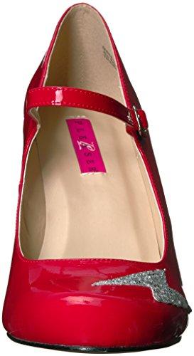 Patent Queen02 r Glitter Pleaser slv Red Dress Women's Pump Sg Z0aZnq1wO