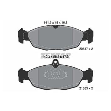 Textar 2054701 Bremsbelagsatz Scheibenbremse