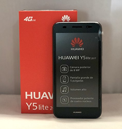 Huawei Y5 Lite 2017 CRO-L23 5.0'' 4G LTE Quad Core 8GB 8MP Smarthphone Factory Unlocked (Grey) (International Version- No Warranty) by Huawei