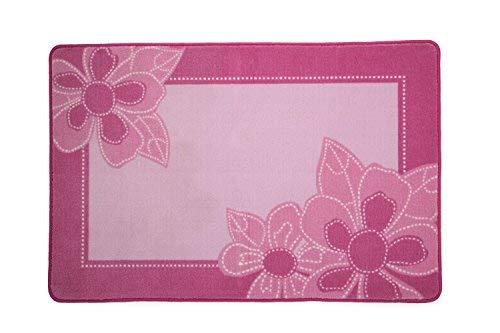 Delta Children Soft Kids Area Rug for Girls, (2.5 Foot X 4 Foot), Girls Foral, Pink, Girls Foral  Pink