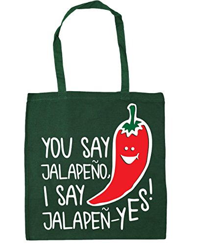 Beach Tote jalapen You HippoWarehouse Bag say litres Bottle x38cm Gym 42cm I yes say Shopping jalapeno Green 10 dvwXwF0