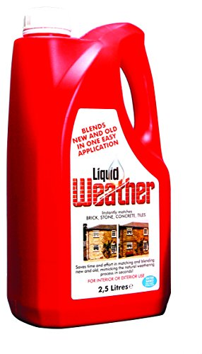 Weathering Solution (Liquid Weather 2.5l Bottle   The Original Ageing Solution   Ageing and Matching Brick, Tile, Render, Stone and Other Masonry)