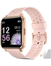 Smartwatch, Smartwatch dames met vrij te kiezen achtergrondafbeelding,fitnesstracker horloges met hartslagmeters, 16 soorten oefeningen en fitnesstracker horloges,Stopwatch, Stappenteller, Slaapmonitor voor smartwatch heren