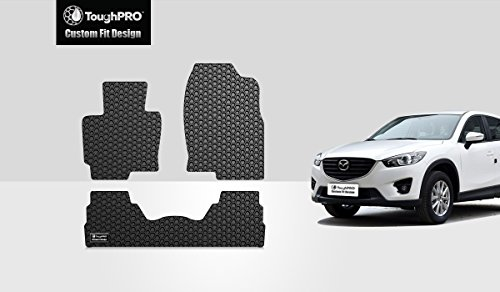 ToughPRO Mazda CX5 Floor Mats Set - All Weather - Heavy Duty -Black Rubber - (2013-2017)
