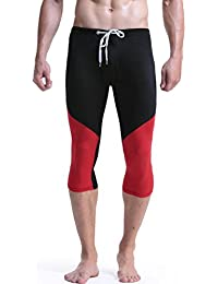 Mendove Men's Drawstring Training Fitness 3/4 Compression Tights Leggings