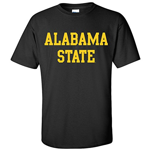 - AS01 - Alabama State Hornets Basic Block T-Shirt - Medium - Black