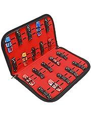 QEES Mes Display Case, Zakmes Case, Kleine Mes Opbergtas, Gereedschap Opbergtas, Vouwmes Schede Case voor Survival Pocket Mes, Outdoor, Mini Mes Box met 40 Slots