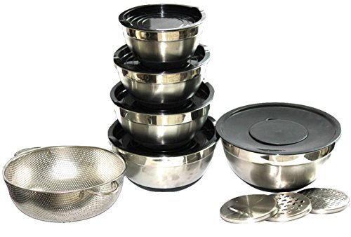 Durable Stainless Steel Non-Slip Mixing Bowls