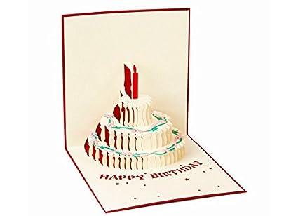 Amazon.com : Lovingmei 3D Pop Up Greeting Card Handmade Happy ...