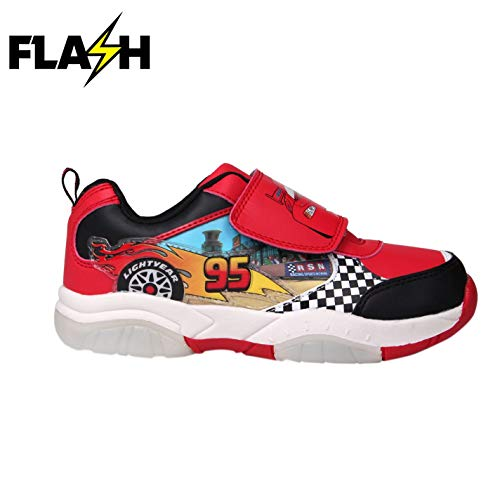 (Character Boys Light Up Infants Trainers Disney Cars C12 (31))